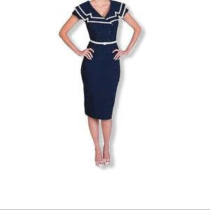 Bettie Page by Tatyana Fitted Sailor Dress